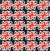 Seamless Maori Kowhaiwhai Design