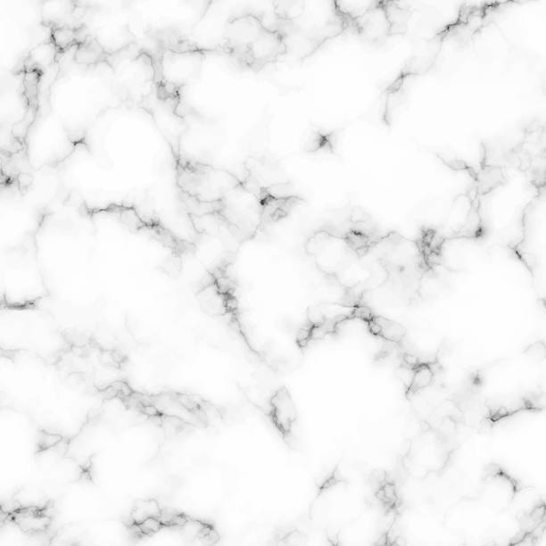Seamless marble stone texture Seamless pattern with realistic marble texture in white and gray color. Vector illustration. marbled effect stock illustrations