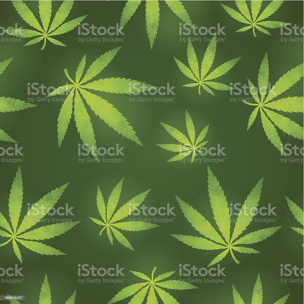 Seamless Marijuana Background royalty-free stock vector art