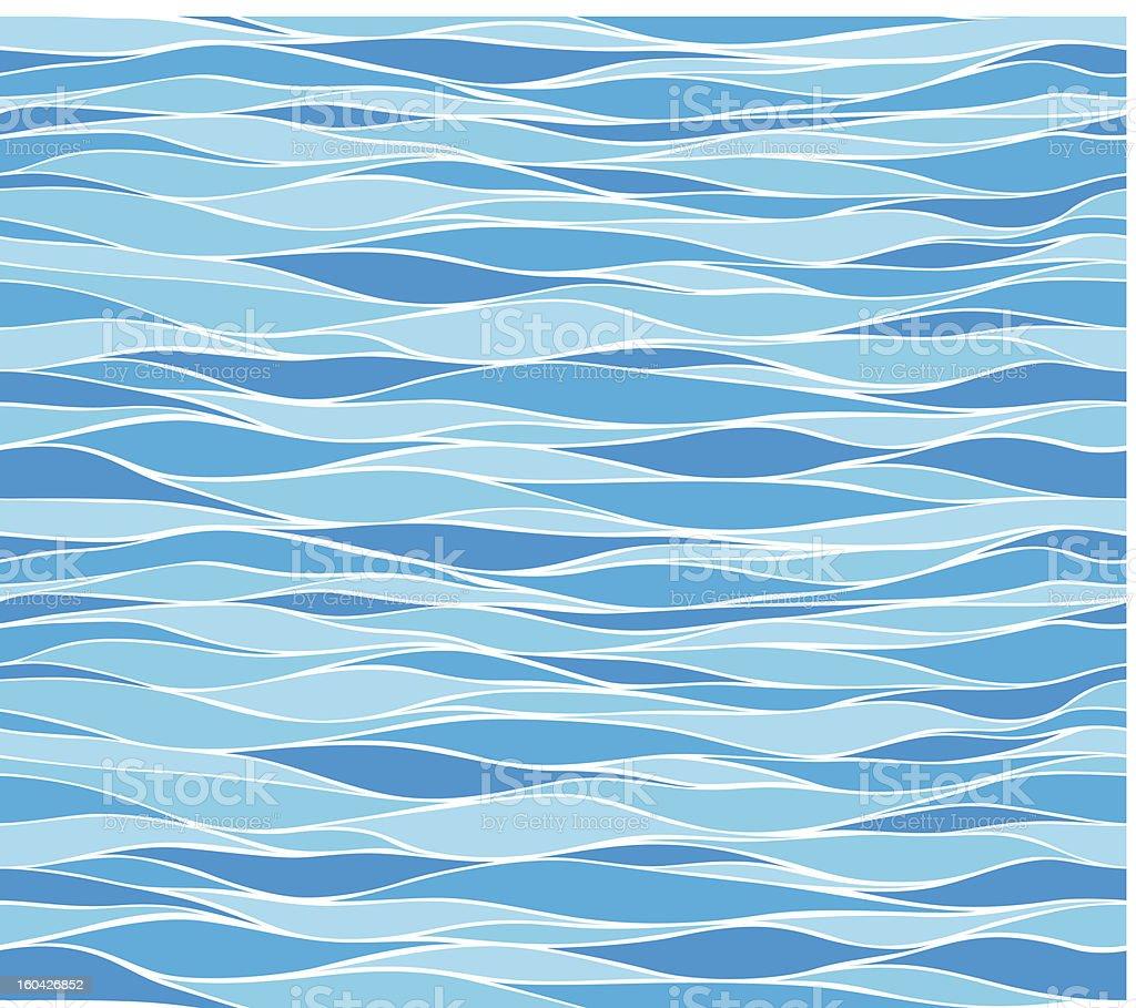 Seamless marine wave patterns royalty-free stock vector art