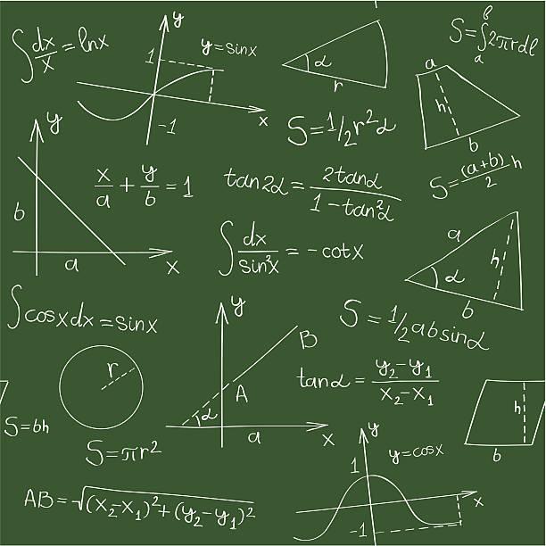 nahtlose mathematik hintergrund - geometriestunde grafiken stock-grafiken, -clipart, -cartoons und -symbole