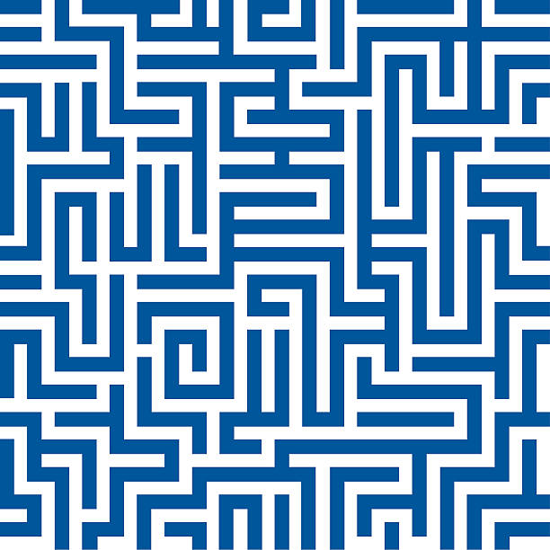 nahtlose maze muster - labyrinthgarten stock-grafiken, -clipart, -cartoons und -symbole