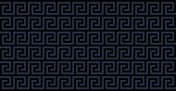 Seamless Meander Pattern In Black And Gray Color, Greek Key Pattern Background