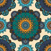 All over oriental medallion texture.