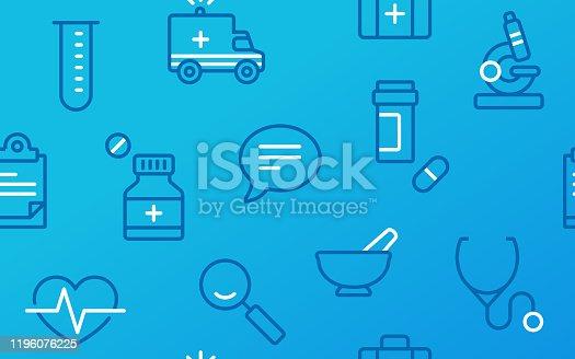 istock Seamless Medical Healthcare Medicine Research Symbols Background 1196076225