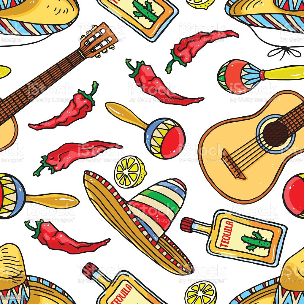 seamless Mexican items royalty-free seamless mexican items stock vector art & more images of arts culture and entertainment