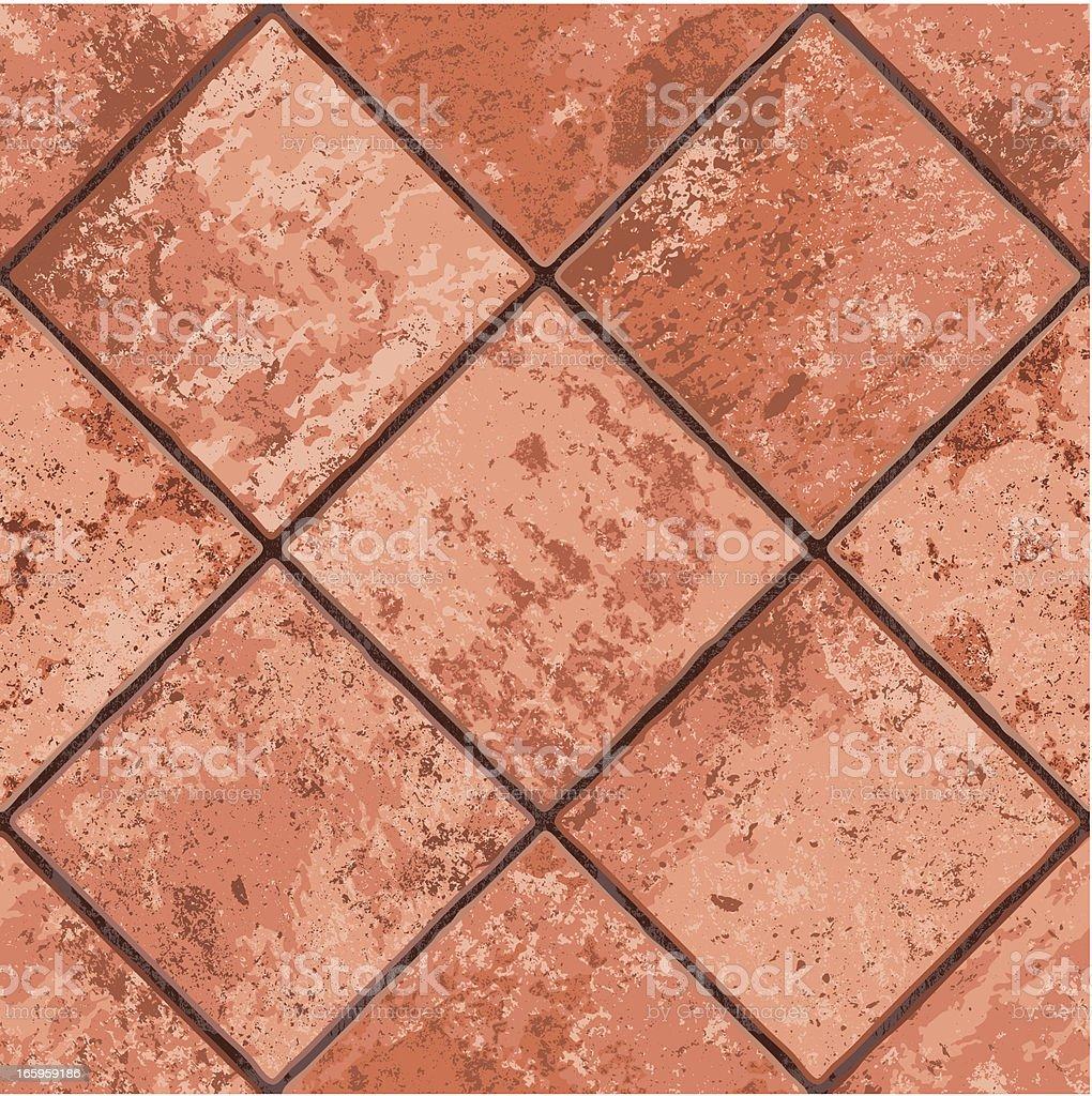 seamless mexican tiled floor vector art
