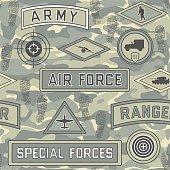 seamless military pattern 08