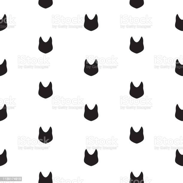 Seamless minimal abstract pattern with black cat head silhouette on vector id1135174915?b=1&k=6&m=1135174915&s=612x612&h=ddyn7lcdjstsuagi7mgasza14smimg1nhtqmwtodyq4=