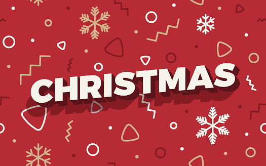 Seamless red retro abstract line shapes Christmas holiday xmas background pattern.