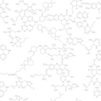 Seamless molecule background