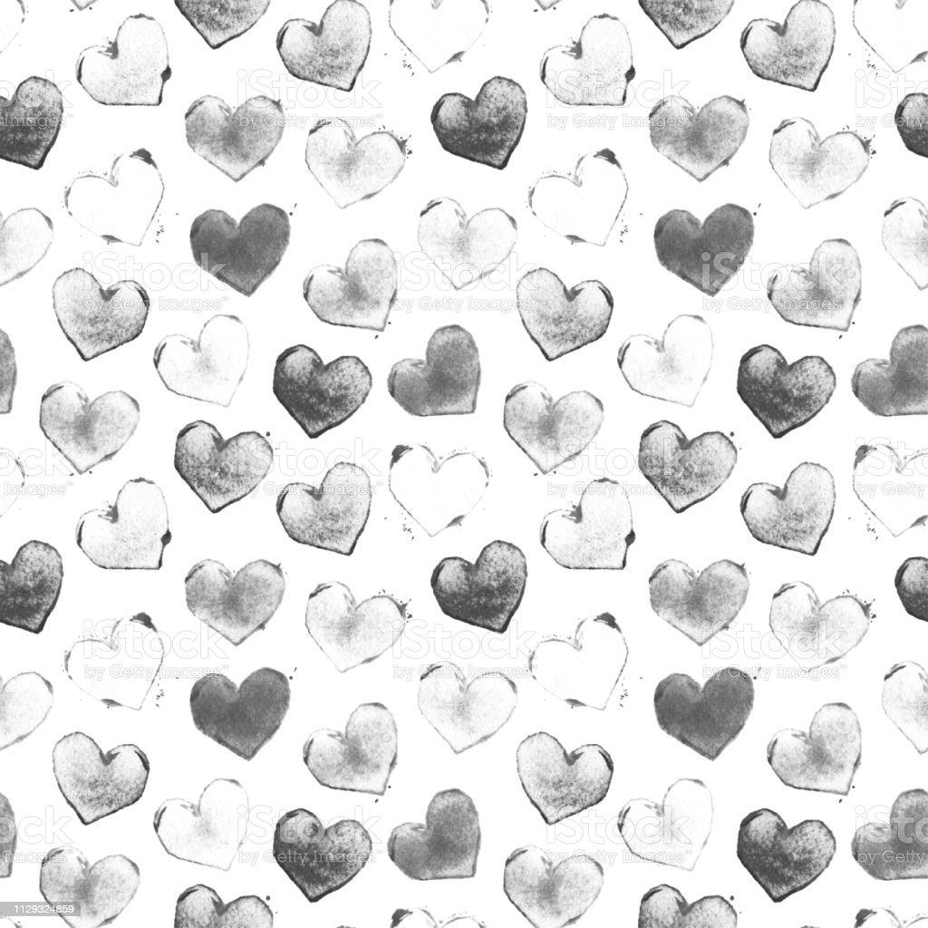 Sorunsuz Tek Renkli Ask Tasarim Tarafindan Kucuk Duz Kalpler