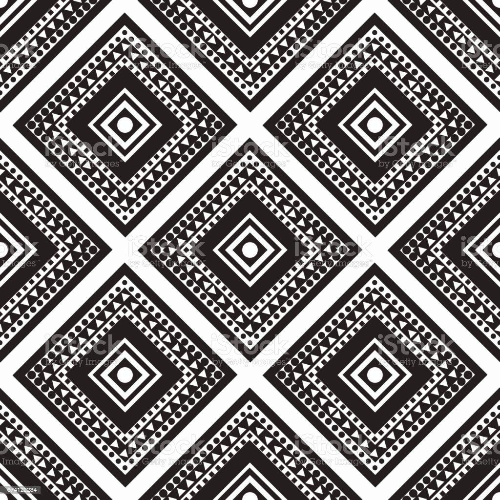seamless monochrome  ornament squares 免版稅 seamless monochrome ornament squares 向量插圖及更多 三角形 圖片