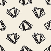 seamless monochrome pattern background hand drawn triangle