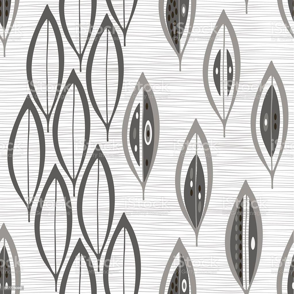 Ilustración de Monocromo De Patrones Abstractos Sin Costuras Con ...