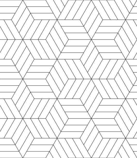 nahtlose monochrome geometrische streifenmuster. - rankgitter stock-grafiken, -clipart, -cartoons und -symbole