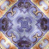 Seamless mosaic art pattern