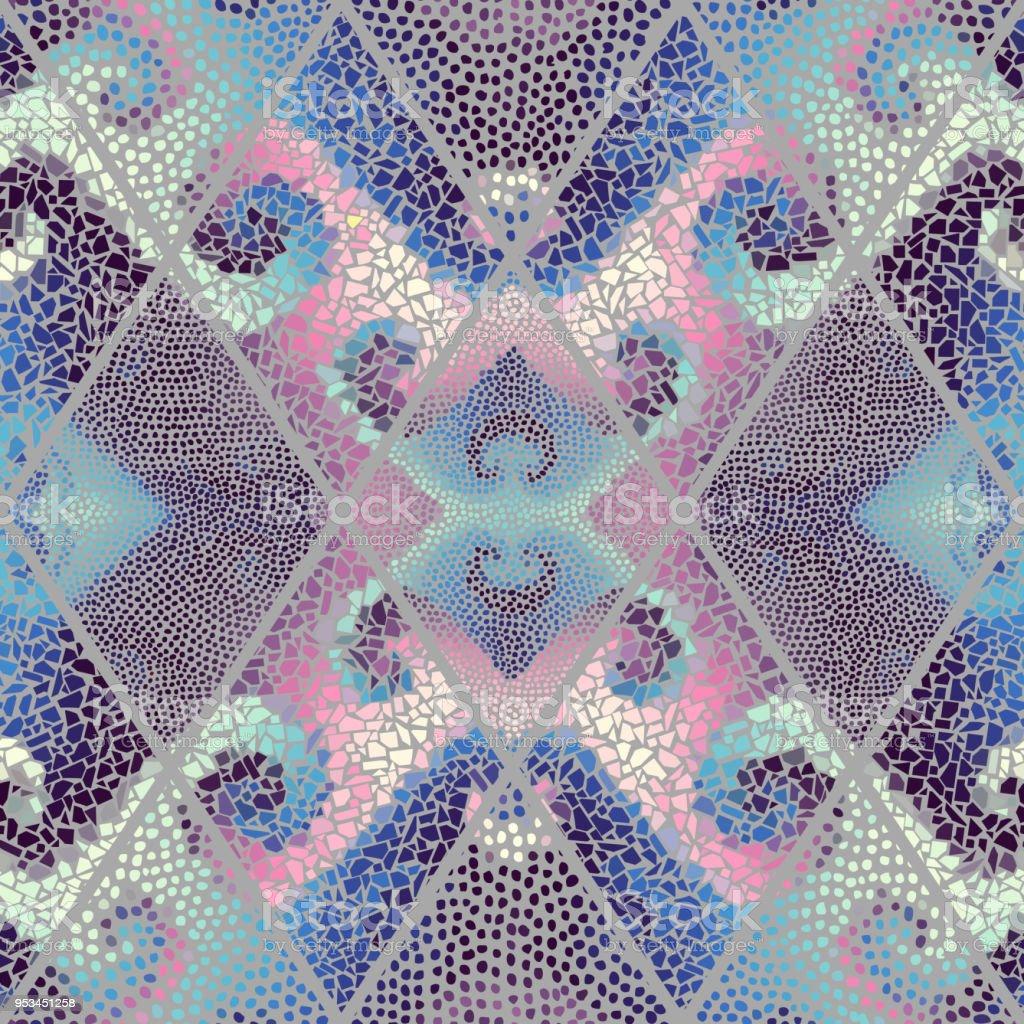 Seamless Mosaic Pattern Stock Illustration - Download Image