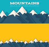 Seamless mountain range background concepts. EPS 10 file. Transparency effects used on highlight elements.