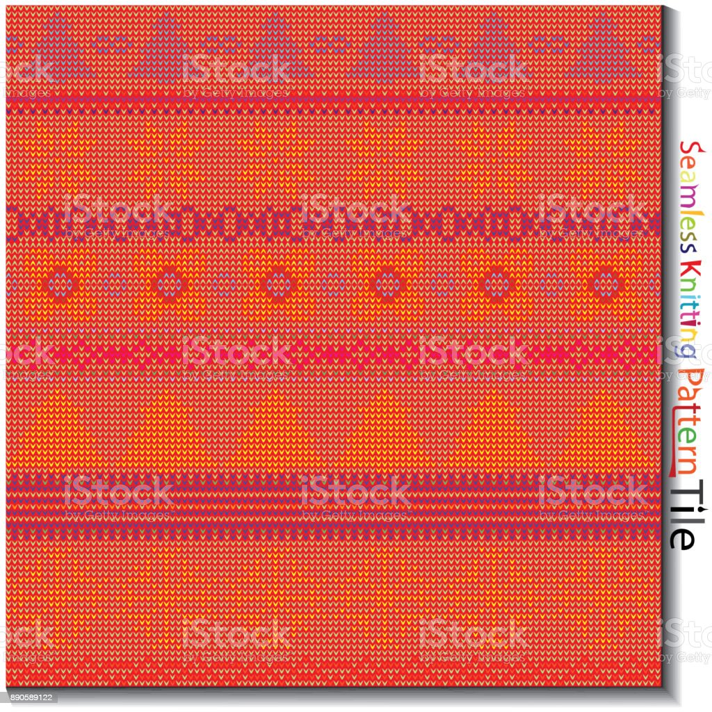 Book Cover Knitting Pattern ~ Seamless multi colored knitting pattern stock vector art more