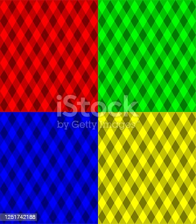 seamless multicolored geometric texture