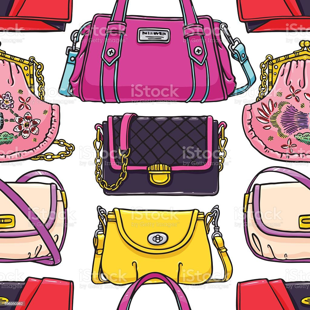 seamless multi-colored handbags royalty-free seamless multicolored handbags stock vector art & more images of adult