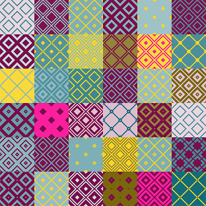 seamless  multi-colored  patchwork  pattern