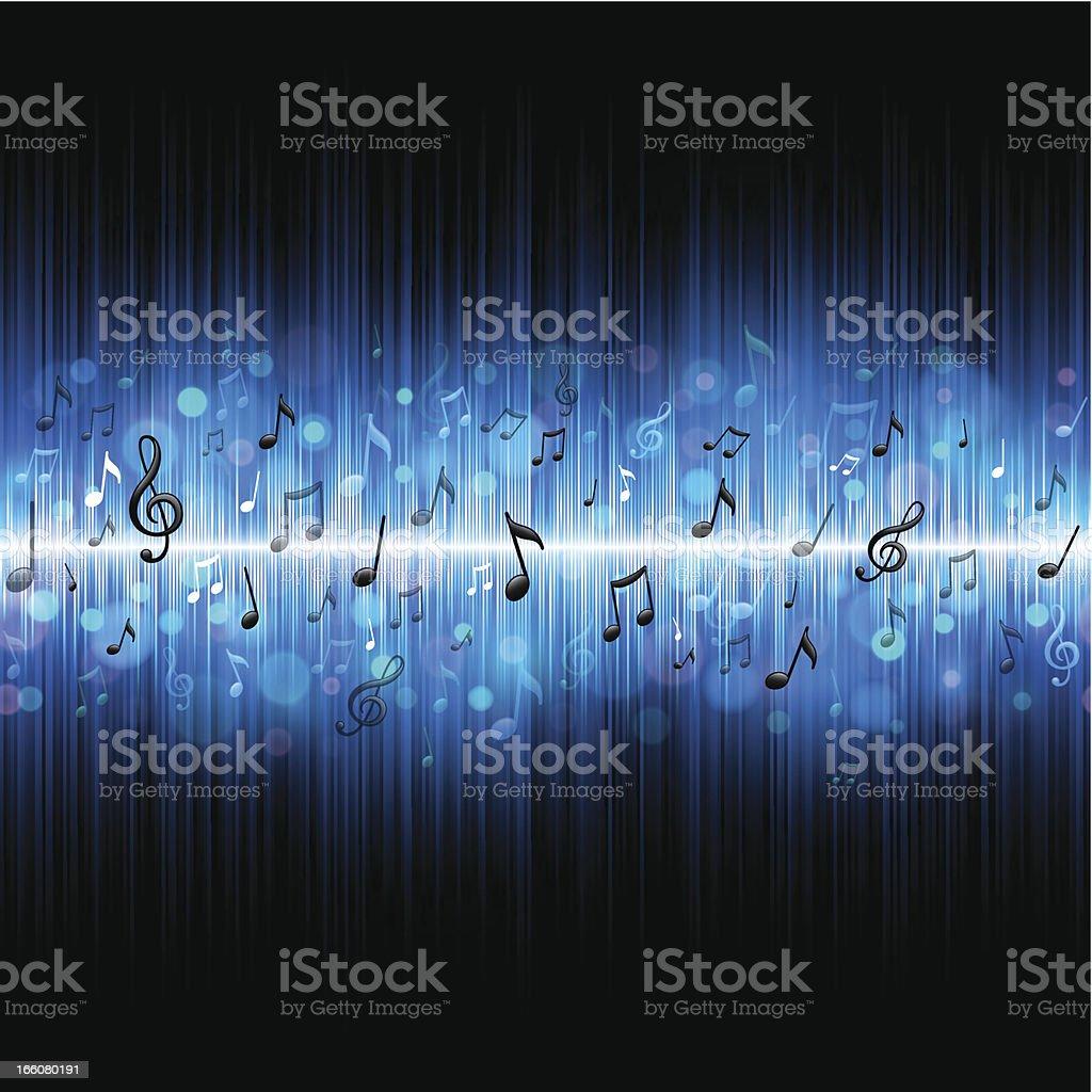 Seamless music background vector art illustration