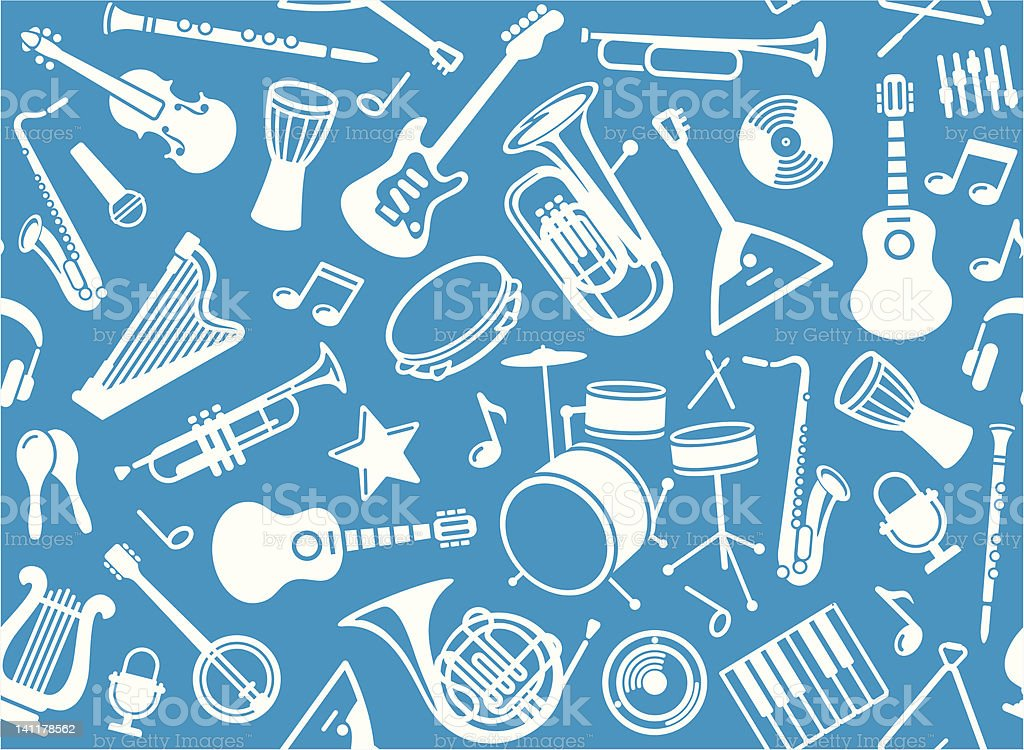 Seamless musical background royalty-free seamless musical background stock vector art & more images of acoustic guitar