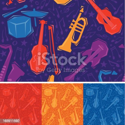 istock Seamless Musical Instruments 165911592