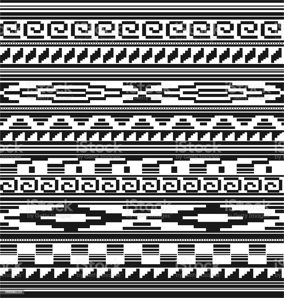 Seamless Native American Aztec Mian Pattern Stock