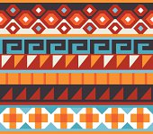 this is a small band of native American detailed vector art. this design looks great as a repeated pattern for backgrounds of use the elements as there on separate pieces.