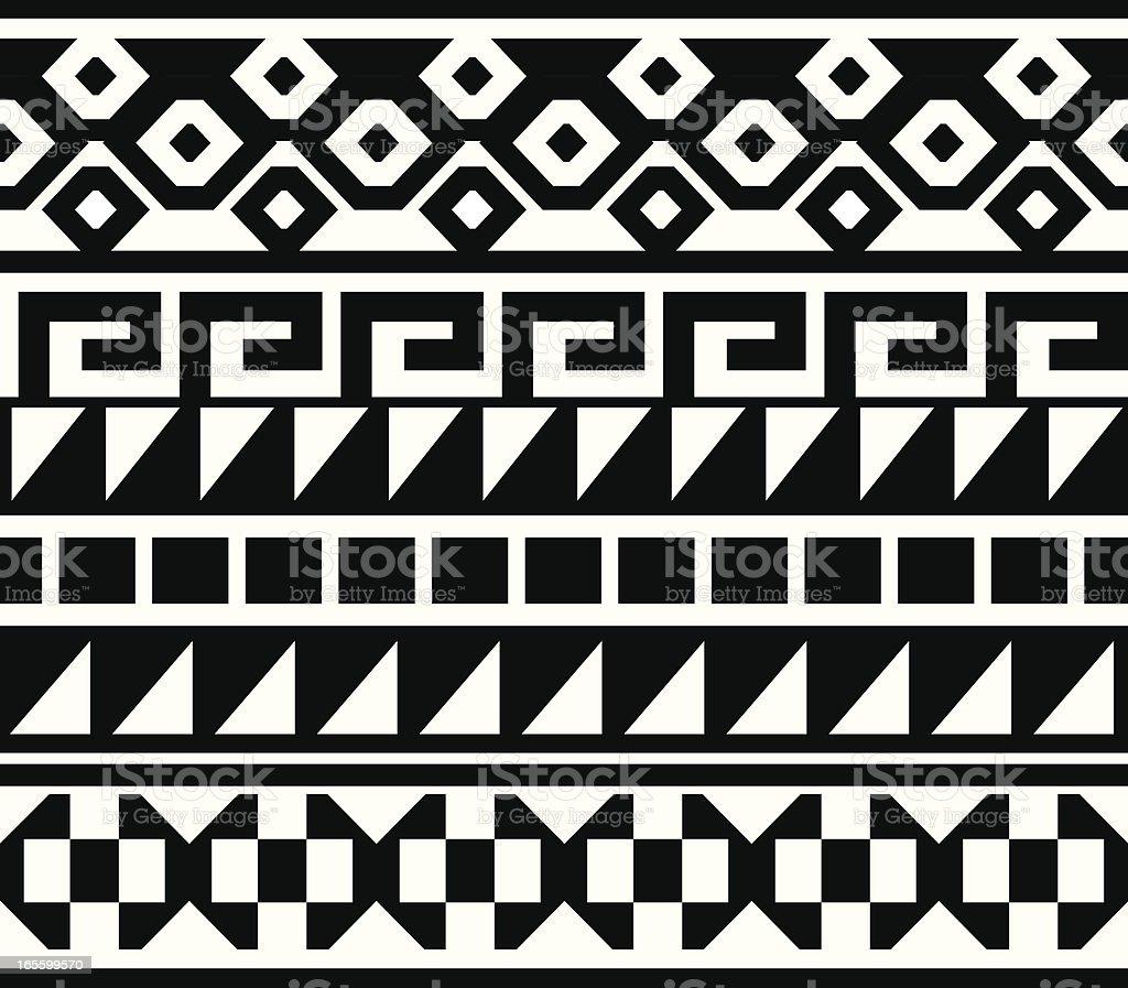 seamless native american aztec mian pattern stock vector art