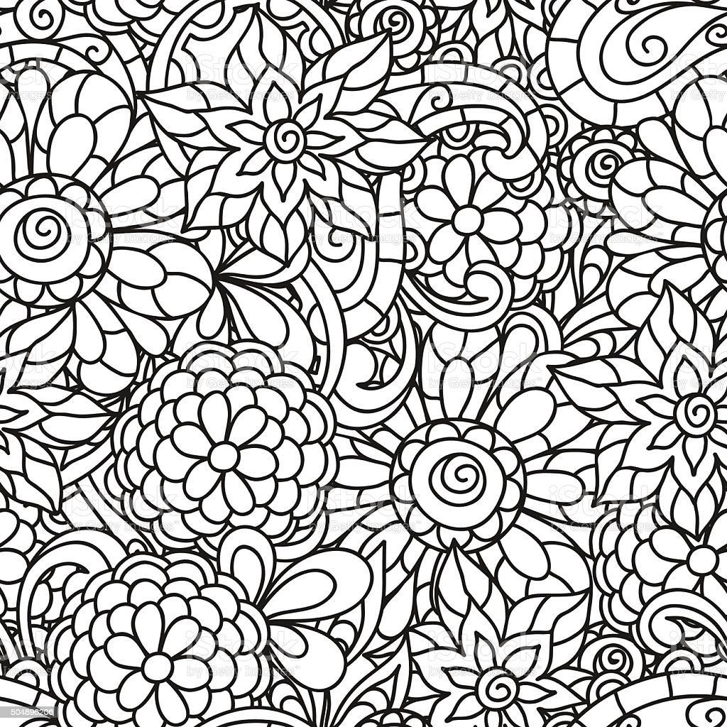Ilustración de Natural De Patrones Sin Fisuras Con Flores Para ...