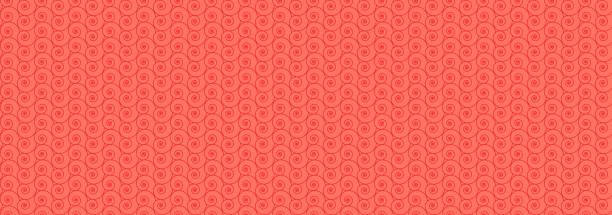 Seamless nautilus shell background. Coral color background Geometric pattern vector illustration. EPS 10 nautilus shell stock illustrations