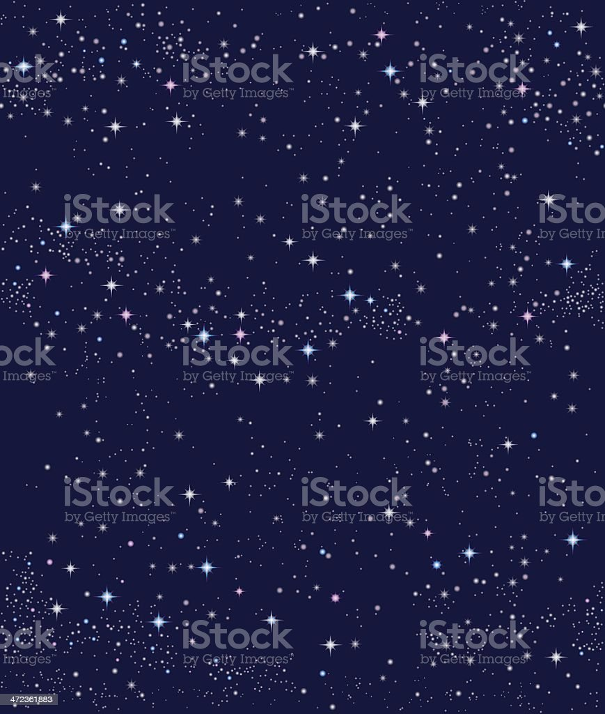 seamless nightsky (big size / for seaml. pattern). - Royaltyfri Astronomi vektorgrafik