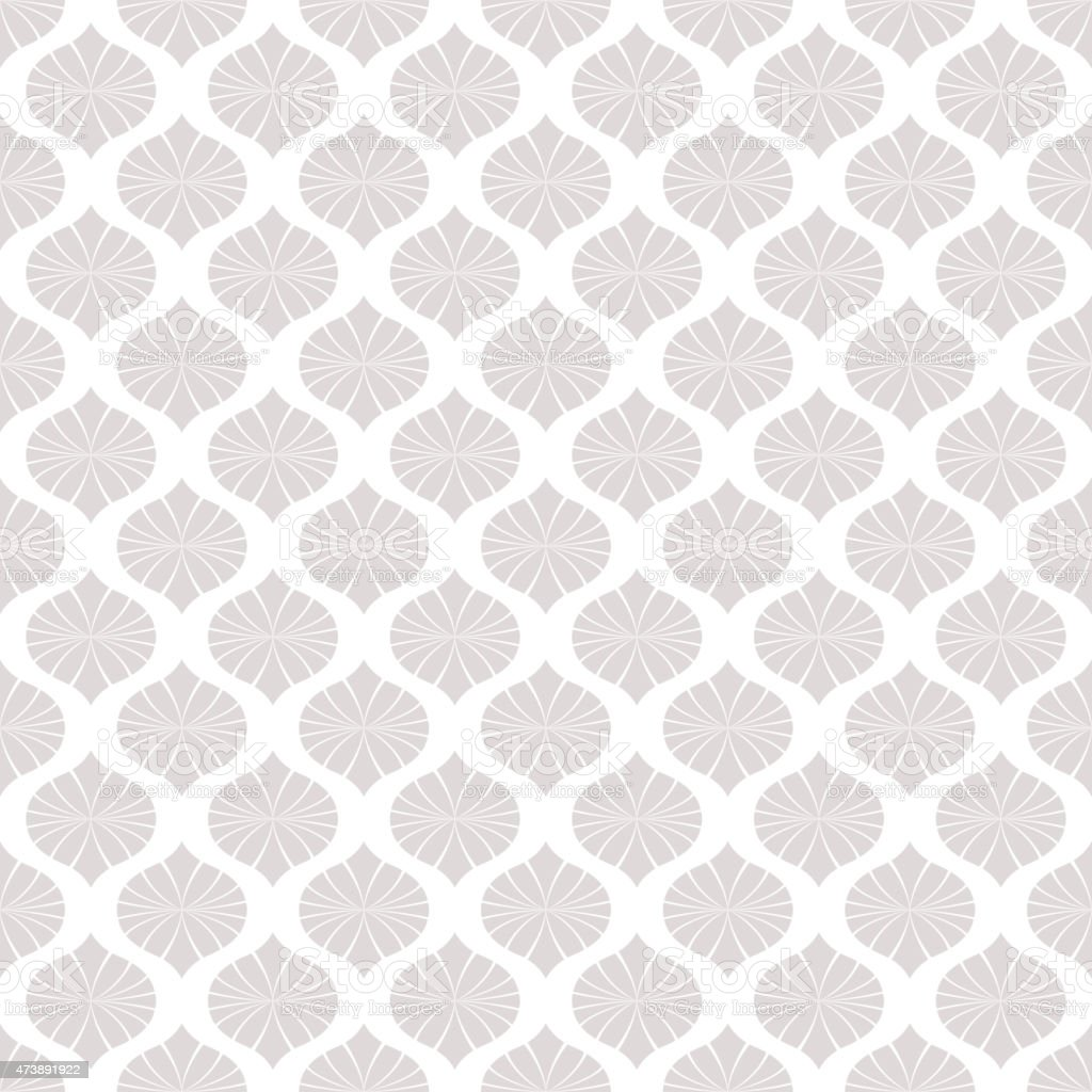 A Seamless Nude Baroque Style Floral Pattern Wallpaper Royalty Free