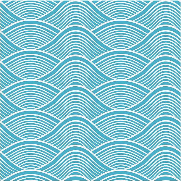 seamless ocean wave pattern seamless ocean wave pattern tide stock illustrations