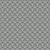 Seamless ocean wave pattern, vector illustration. EPS 10.