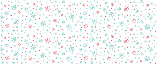 seamless of snowflake and star, vector illustration background - holiday season stock illustrations