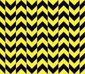 Seamless vector offset warning chevron stripes texture in alternating directions