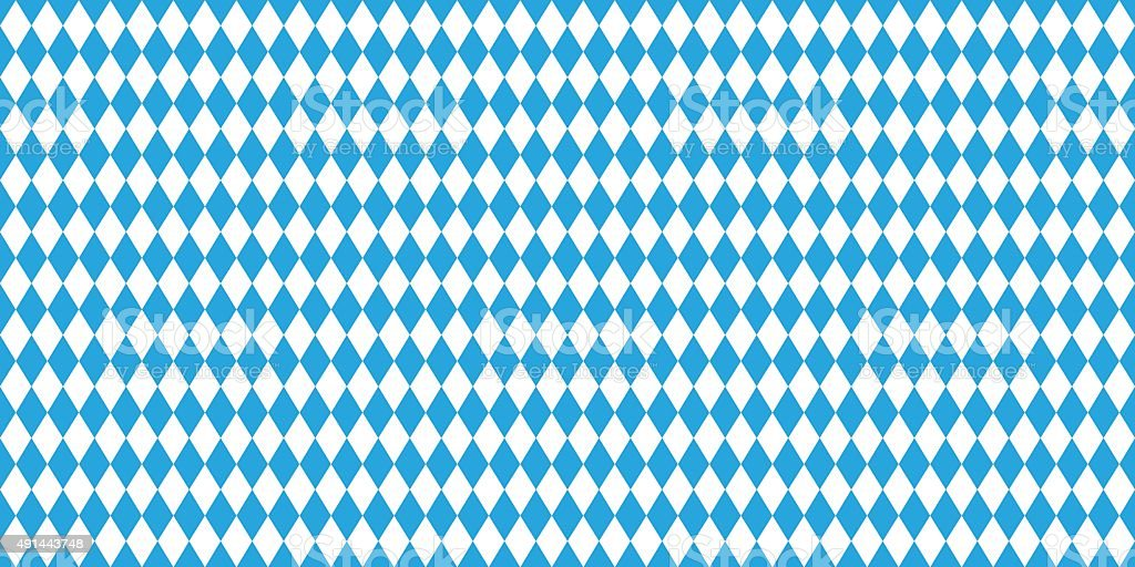 Seamless Oktoberfest blue background vector art illustration