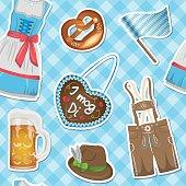 seamless oktoberfest pattern background