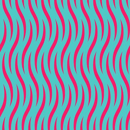 seamless op art 80's style vector wave pattern.