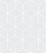 Seamless op art pattern. 3D illusion. Geometric texture. Vector illustration.