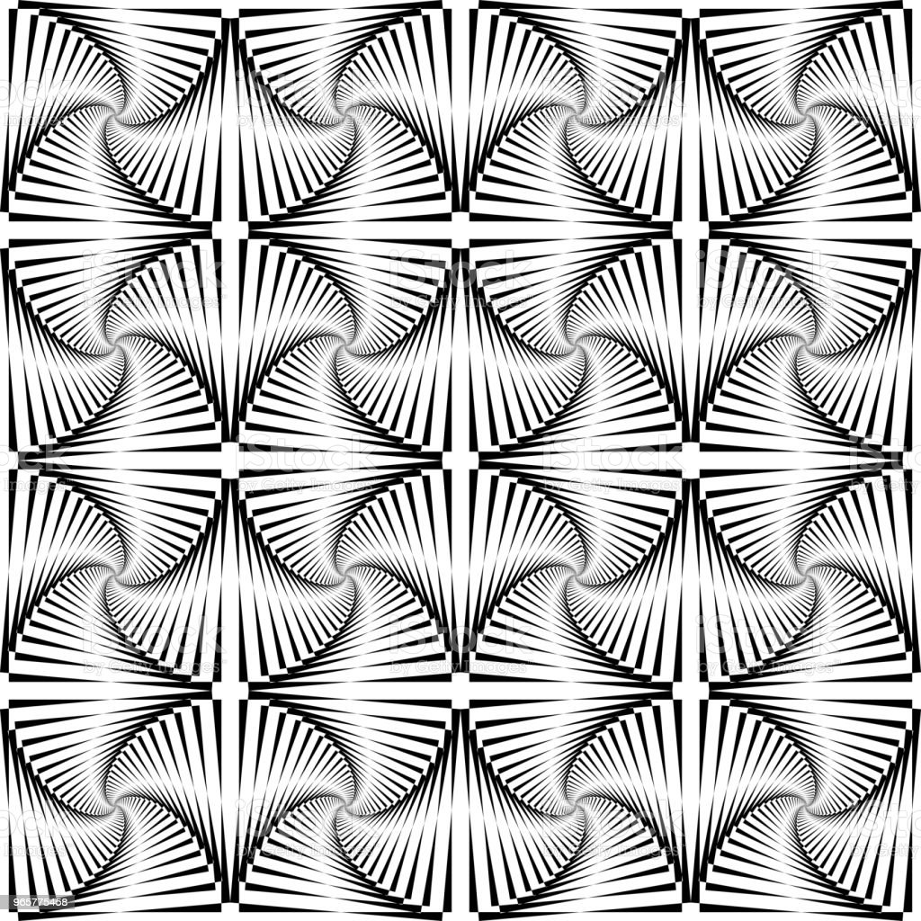 Seamless op art pattern. - Royalty-free Backgrounds stock vector