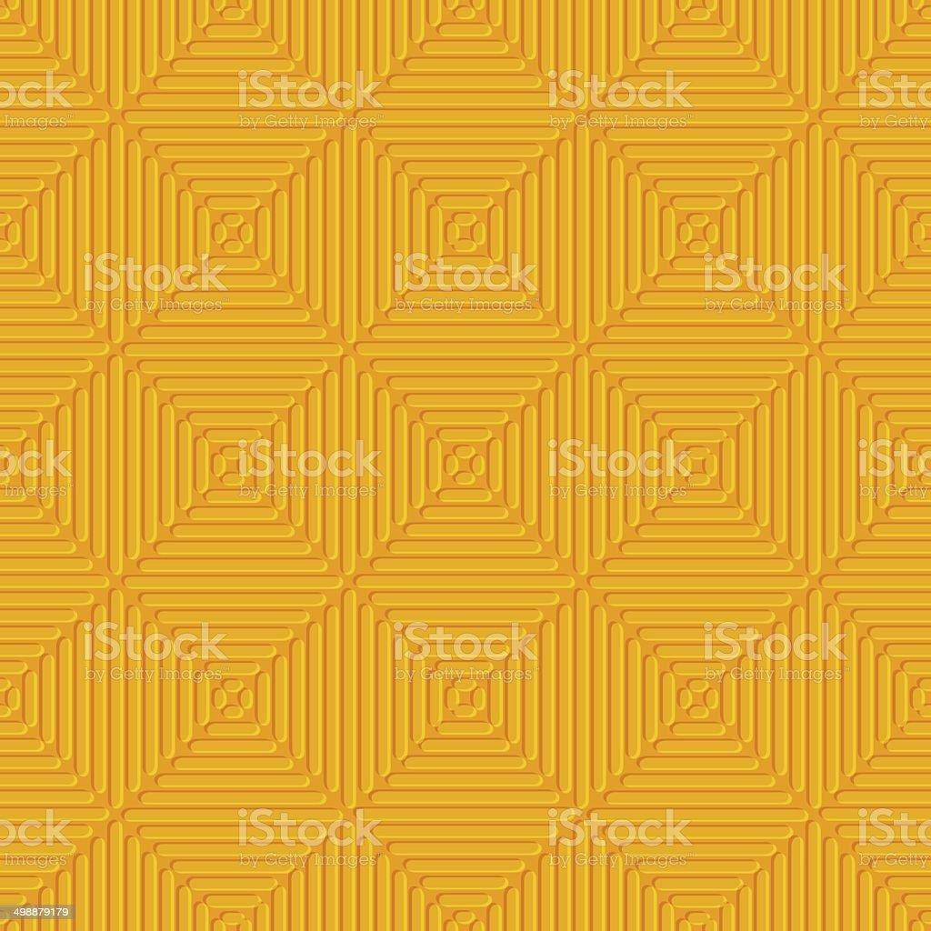 Seamless orange embossed lines vector art illustration