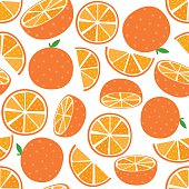Seamless Orange Fruit
