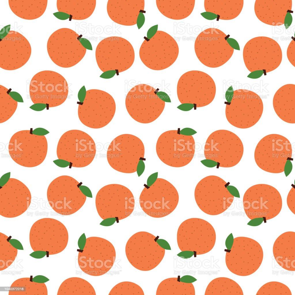 Seamless Orange Fruitabstract Backgroundvector Illustration