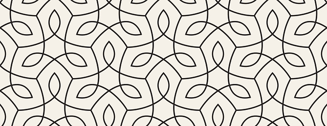 Seamless Organic Nature Plant Vector Pattern